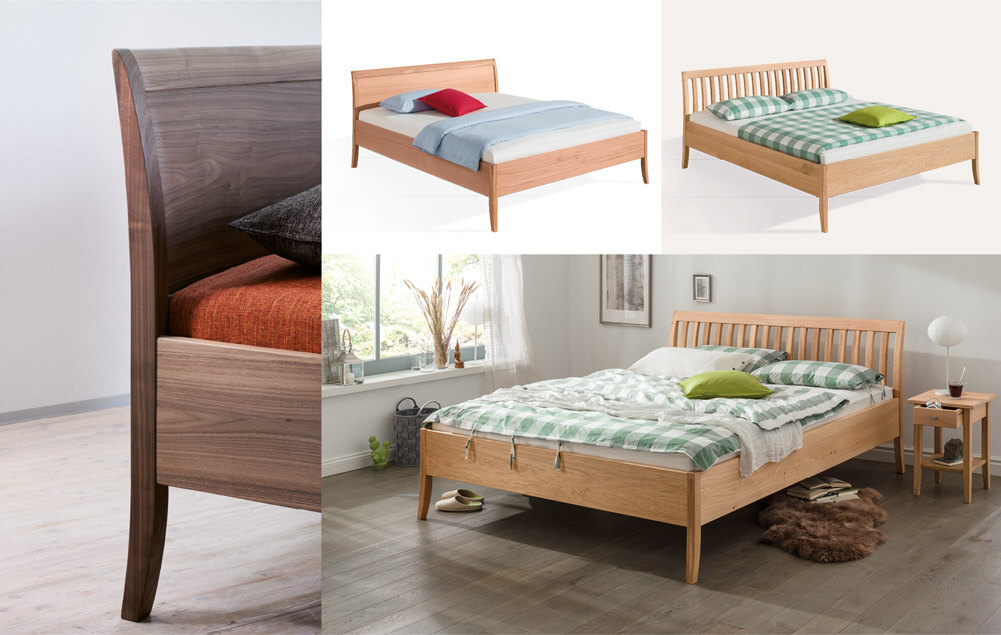 solid wood bed Eto
