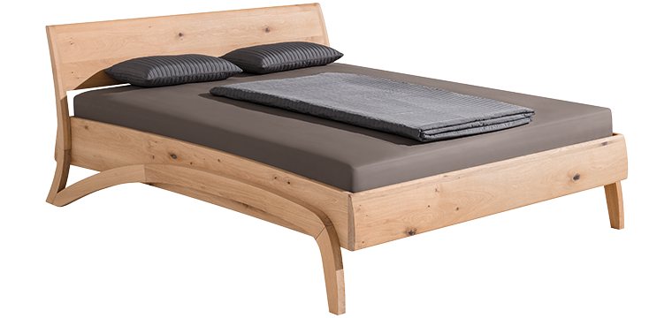 solid wood bed loop
