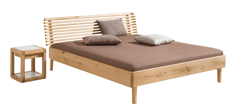 solid wood bed Noa