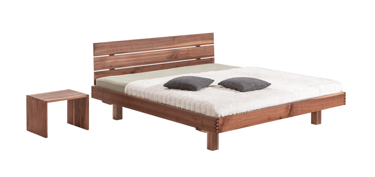 solid wood bed Plain