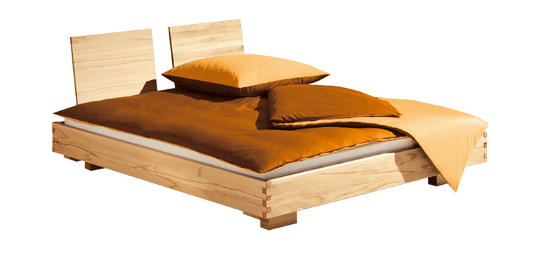 solid wood bed Titiano